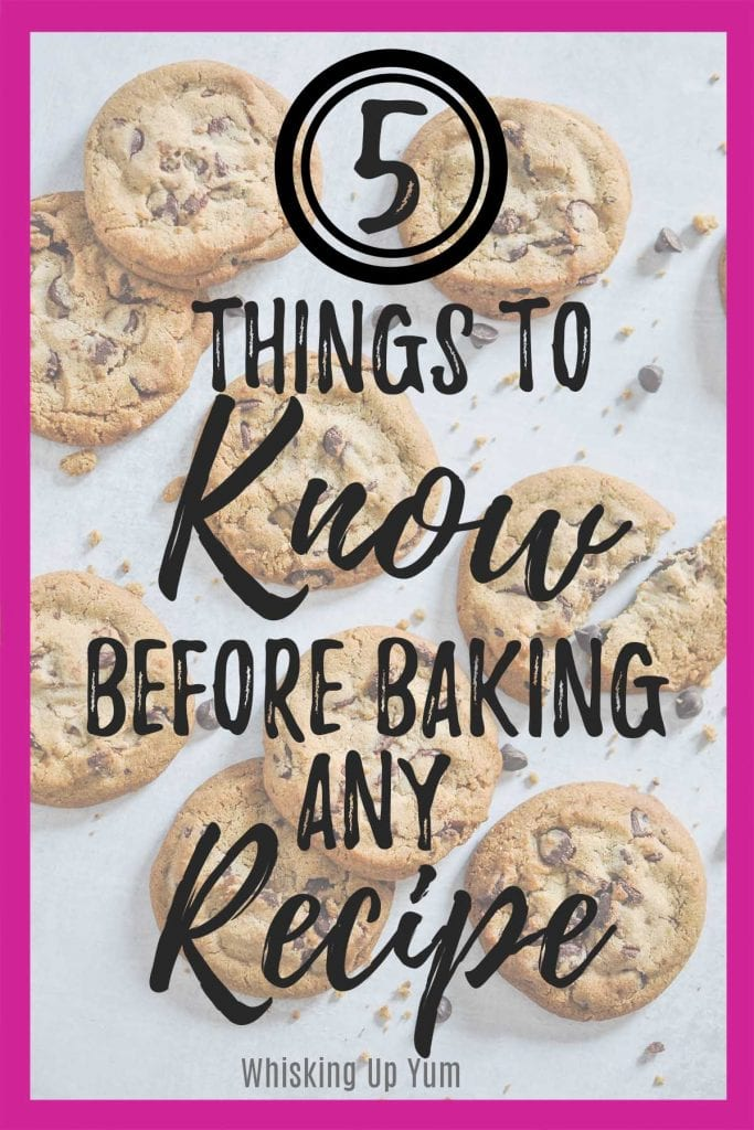 5 things to know before baking any recipe