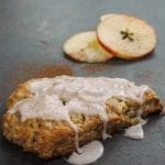 Apple Cinnamon Scones with Maple Frosting