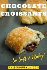 Easy homemade chocolate croissants