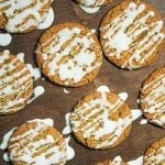 Soft and Chewy Gingersnap Cookies with Icing